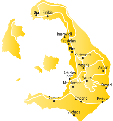 santorini car hire locations